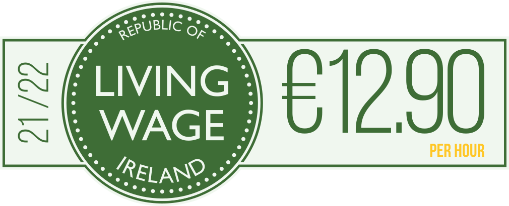 Republic of Ireland - Living Wage €12.90 per hour