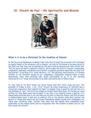 St. Vincent de Paul - His Spirituality and Mission - Aine O'Brien D.C.