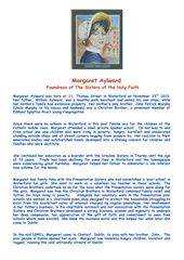 Margaret Aylward Foundress of The Sisters of The Holy Faith