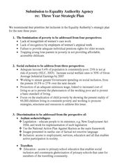 VPSJ Submission to Equality Authority Agency re: 3 Year Strategic Plan 2005